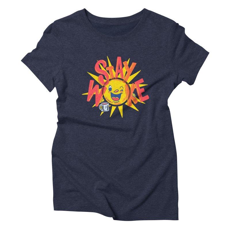 Stay Woke Women's Triblend T-Shirt by Ibyes