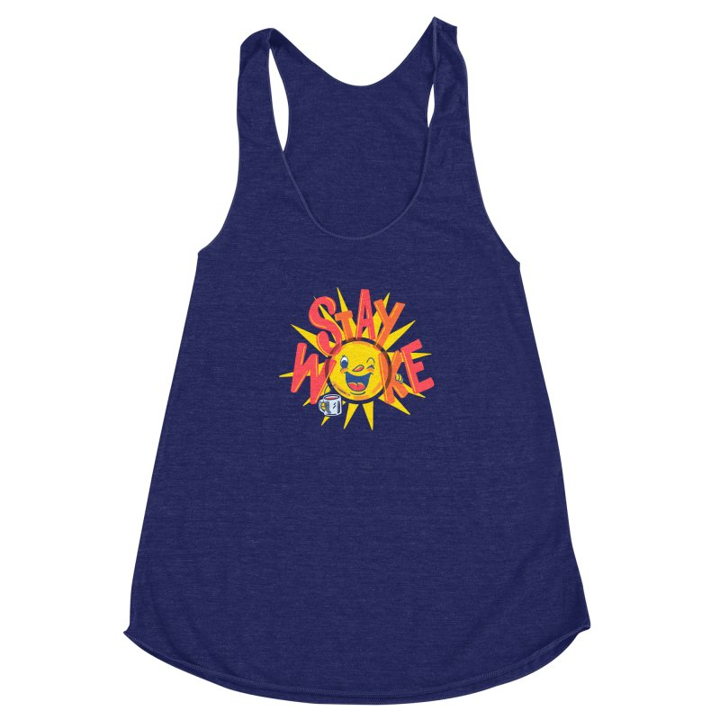 Stay Woke Women's Racerback Triblend Tank by Ibyes