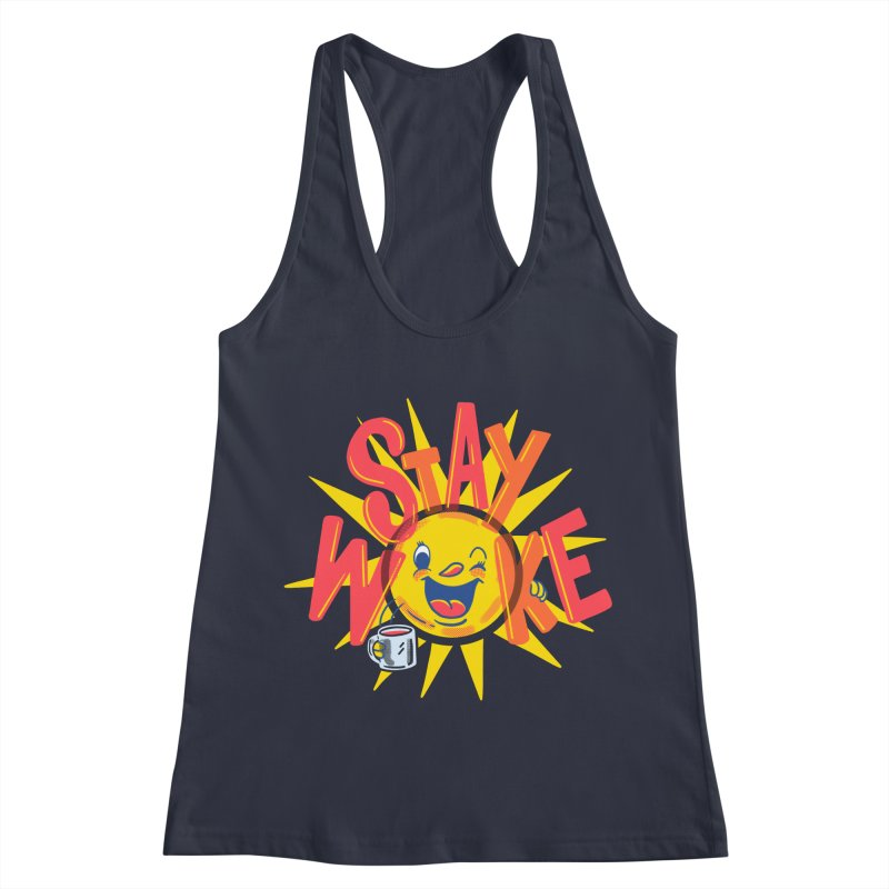 Stay Woke Women's Racerback Tank by Ibyes