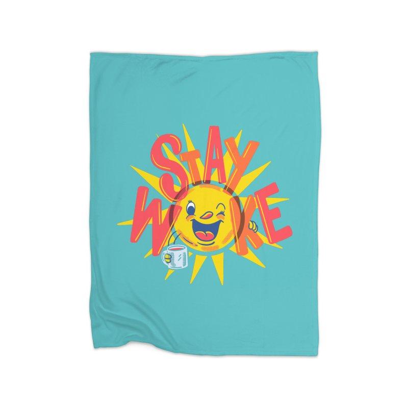 Stay Woke Home Fleece Blanket Blanket by Ibyes