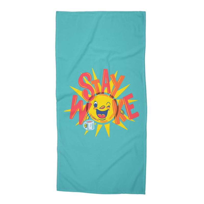 Stay Woke Accessories Beach Towel by Ibyes