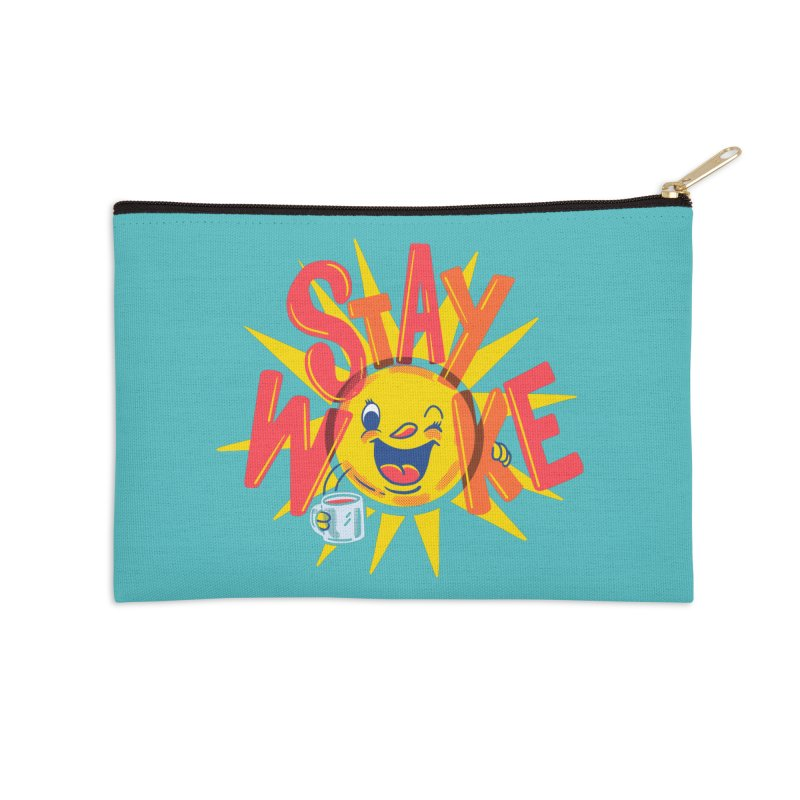 Stay Woke Accessories Zip Pouch by Ibyes