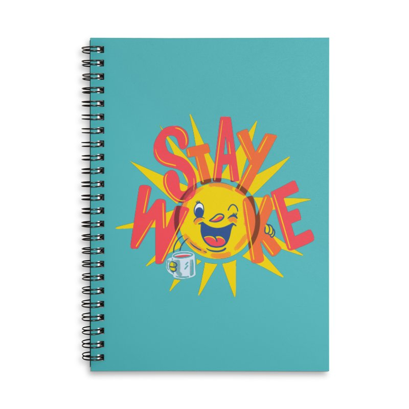 Stay Woke Accessories Lined Spiral Notebook by Ibyes