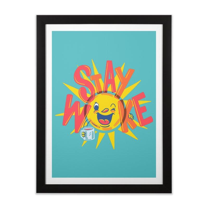 Stay Woke Home Framed Fine Art Print by Ibyes