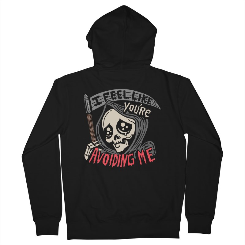 Grim Weeper Men's French Terry Zip-Up Hoody by Ibyes