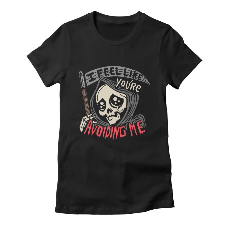 Grim Weeper Women's Fitted T-Shirt by Ibyes