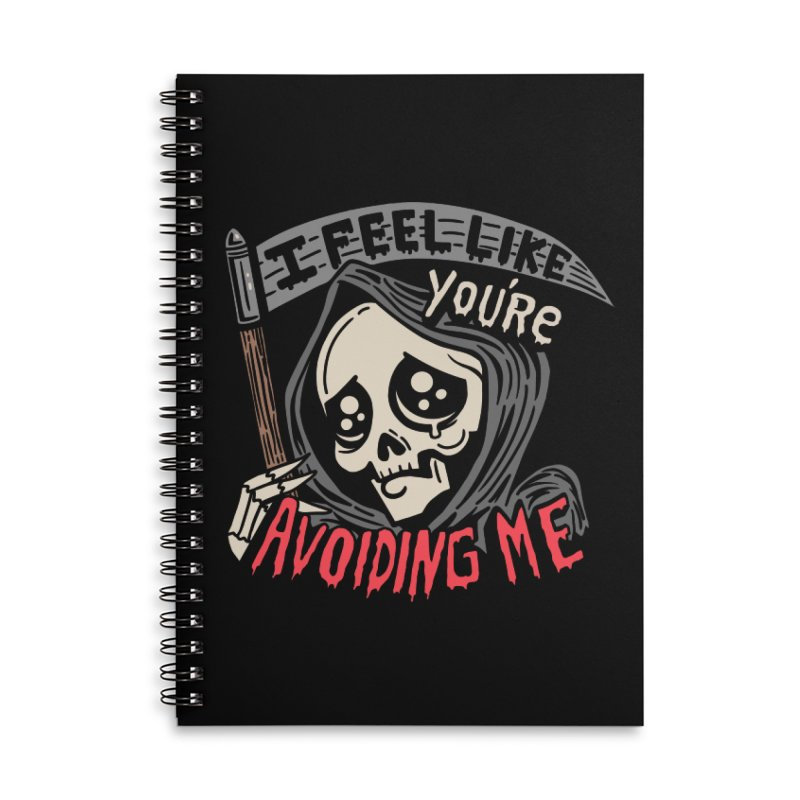 Grim Weeper Accessories Lined Spiral Notebook by Ibyes