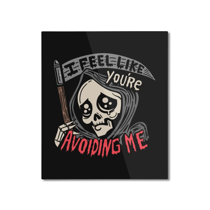 Grim Weeper Home Mounted Aluminum Print by Ibyes