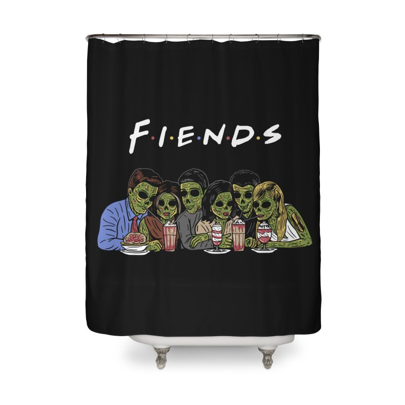 Fiends Home Shower Curtain by Ibyes