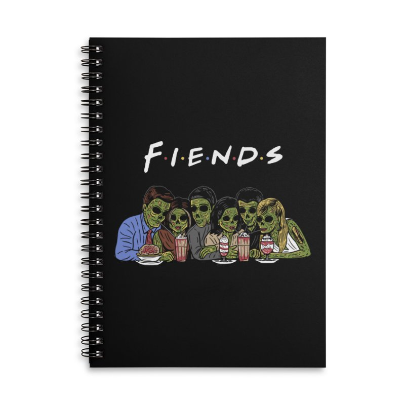 Fiends Accessories Lined Spiral Notebook by Ibyes