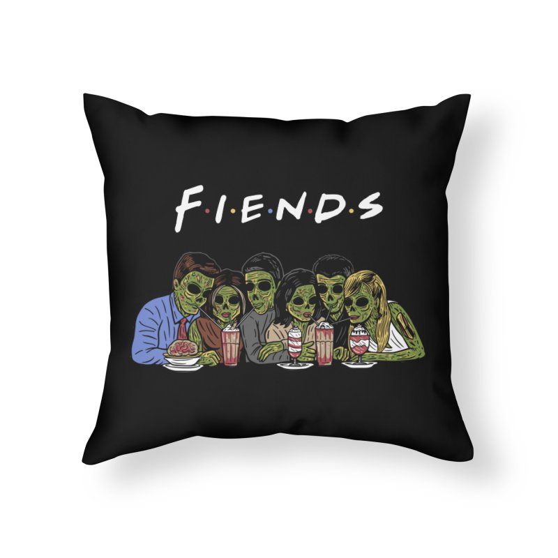 Fiends Home Throw Pillow by Ibyes