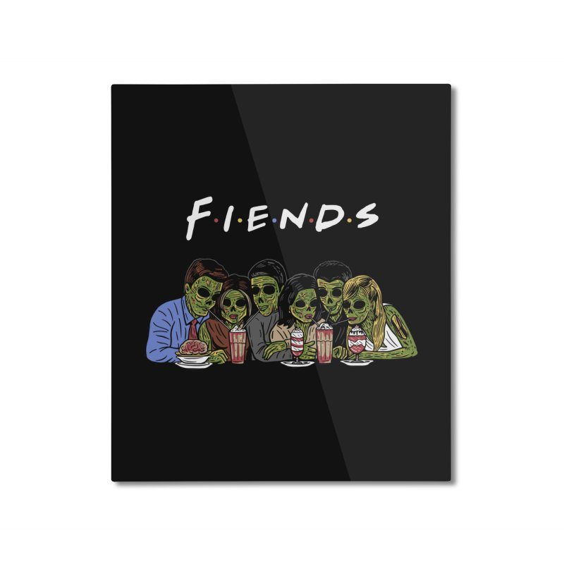 Fiends Home Mounted Aluminum Print by Ibyes