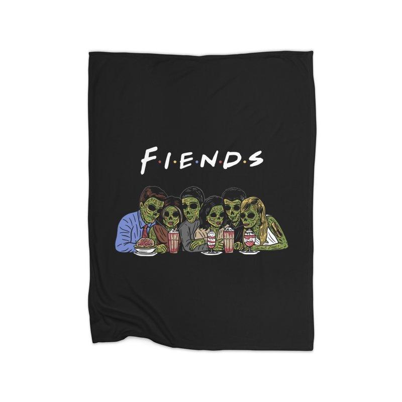 Fiends Home Fleece Blanket Blanket by Ibyes