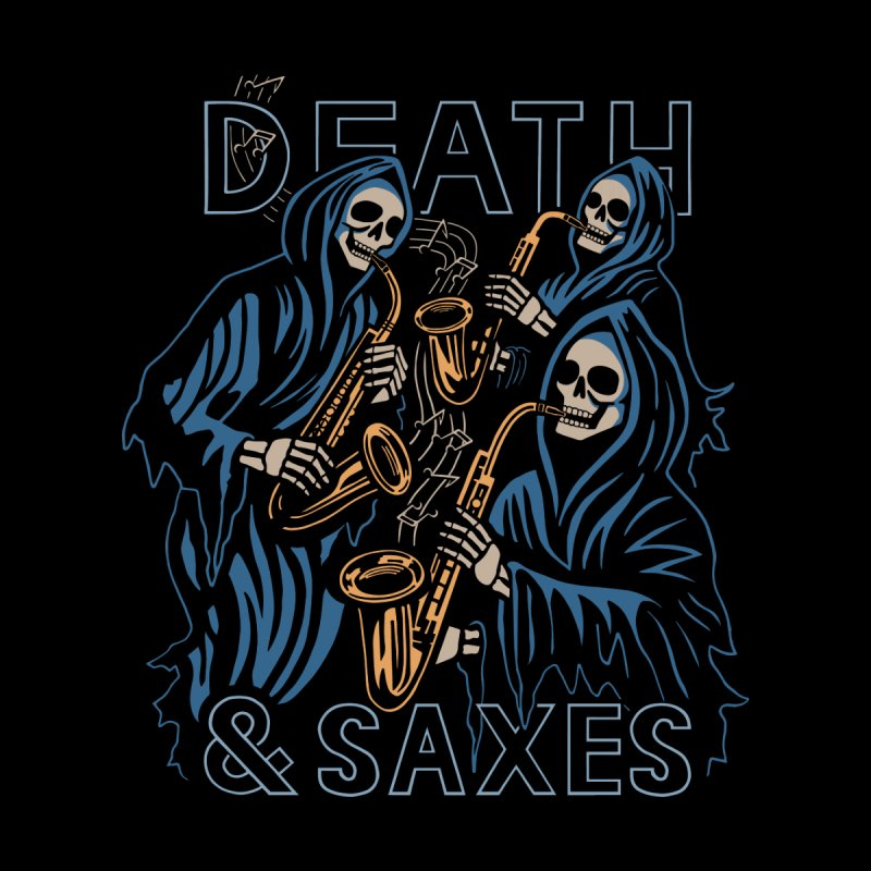 Death & Saxes Men's T-Shirt by Ibyes