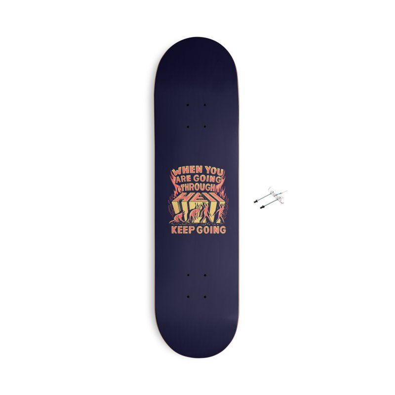 Through Hell Accessories Skateboard by Ibyes