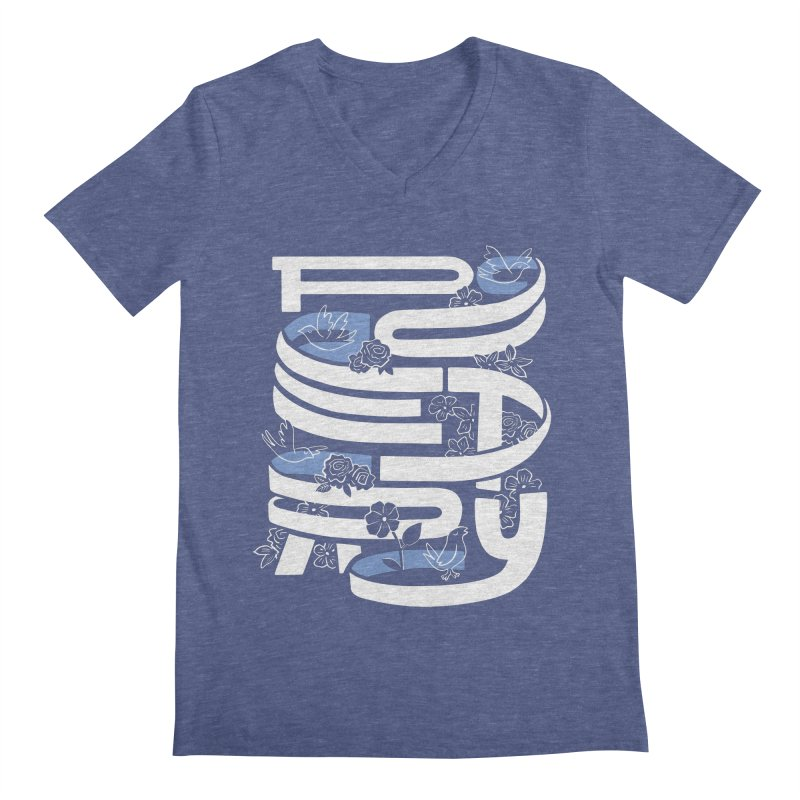 Poetry in Motion Men's V-Neck by Ibyes
