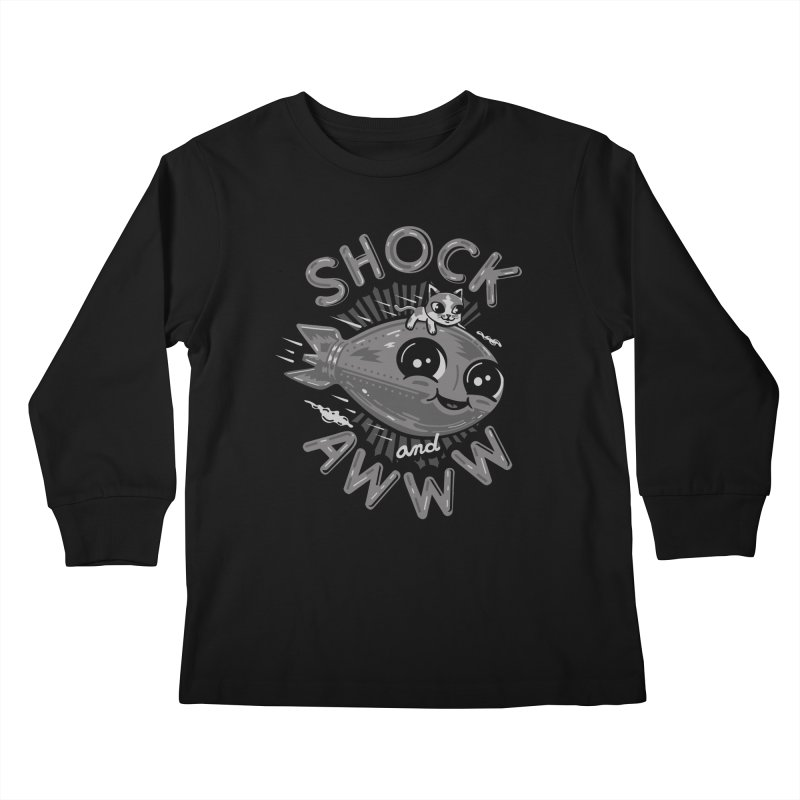 Shock and Awww Kids Longsleeve T-Shirt by Ibyes