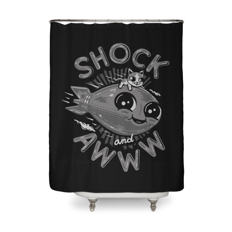 Shock and Awww Home Shower Curtain by Ibyes