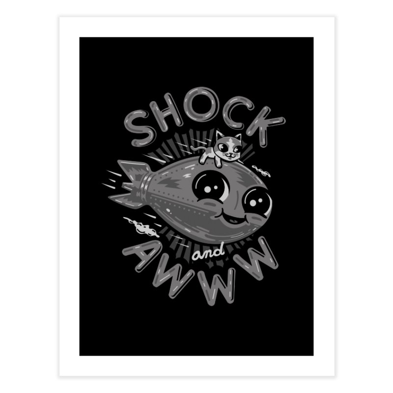 Shock and Awww Home Fine Art Print by Ibyes