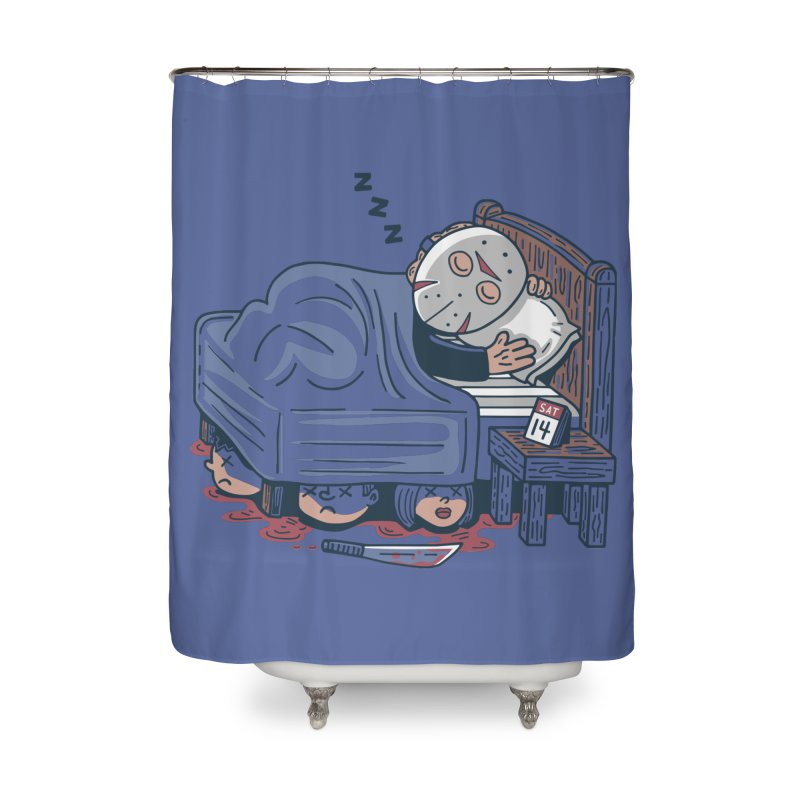 Lazy Saturday Home Shower Curtain by Ibyes