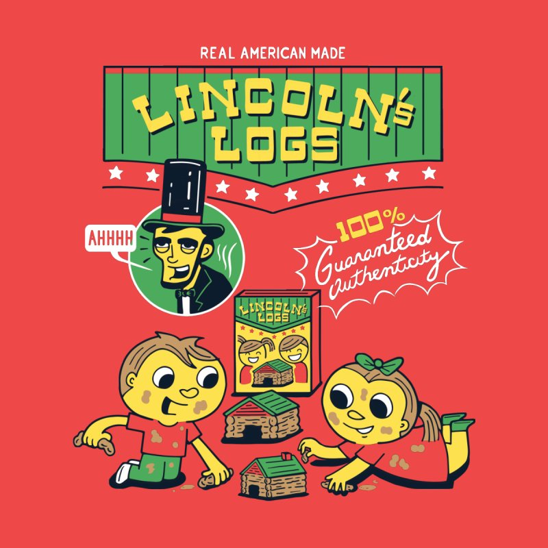 Lincoln's Logs Men's T-Shirt by Ibyes