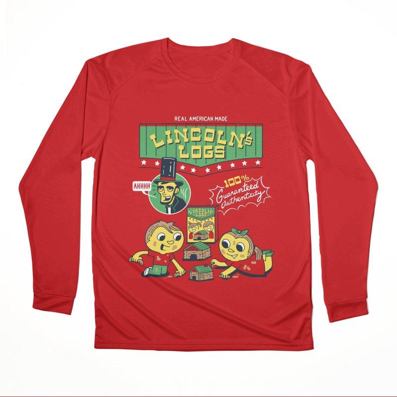 Lincoln's Logs Women's Longsleeve T-Shirt by Ibyes