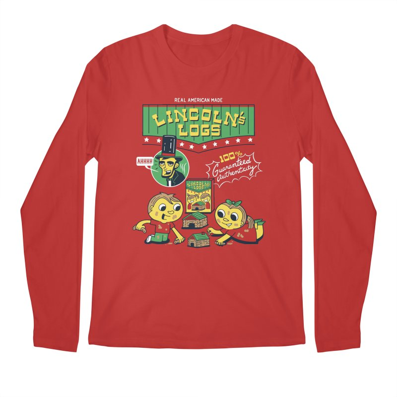 Lincoln's Logs Men's Longsleeve T-Shirt by Ibyes