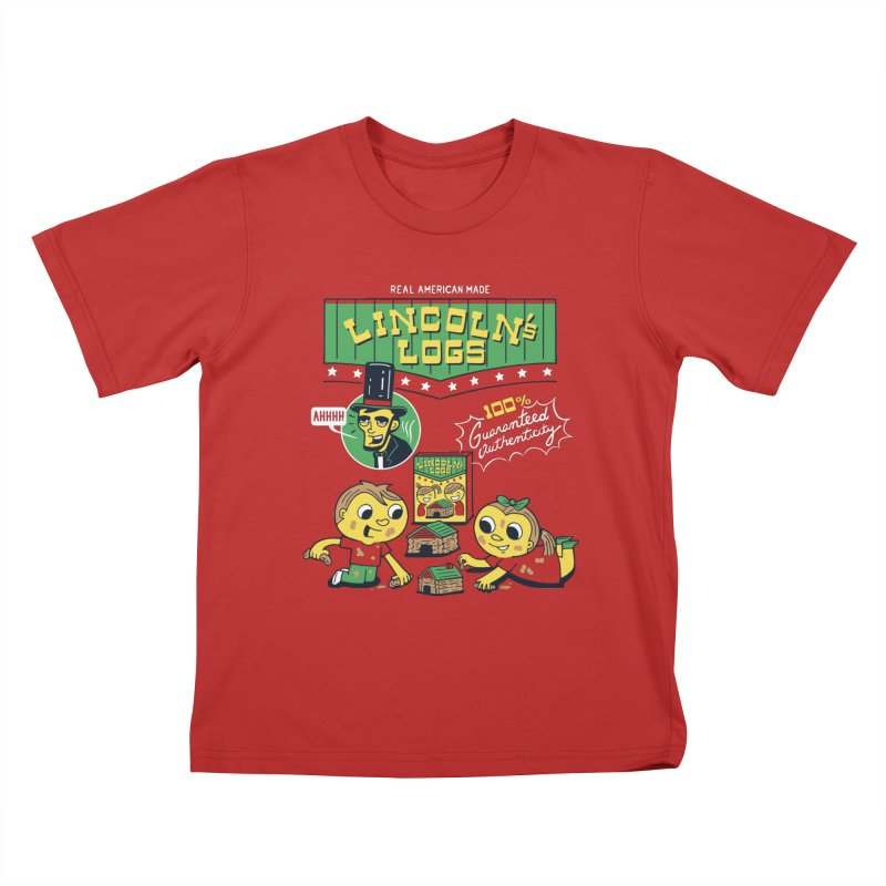 Lincoln's Logs Kids T-Shirt by Ibyes