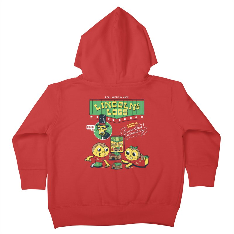 Lincoln's Logs Kids Toddler Zip-Up Hoody by Ibyes