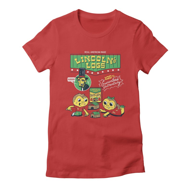 Lincoln's Logs Women's T-Shirt by Ibyes