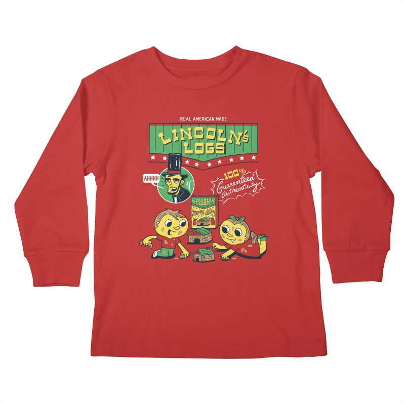 Lincoln's Logs Kids Longsleeve T-Shirt by Ibyes