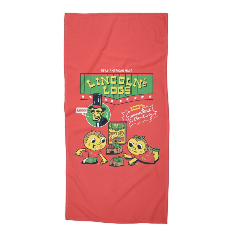 Lincoln's Logs Accessories Beach Towel by Ibyes