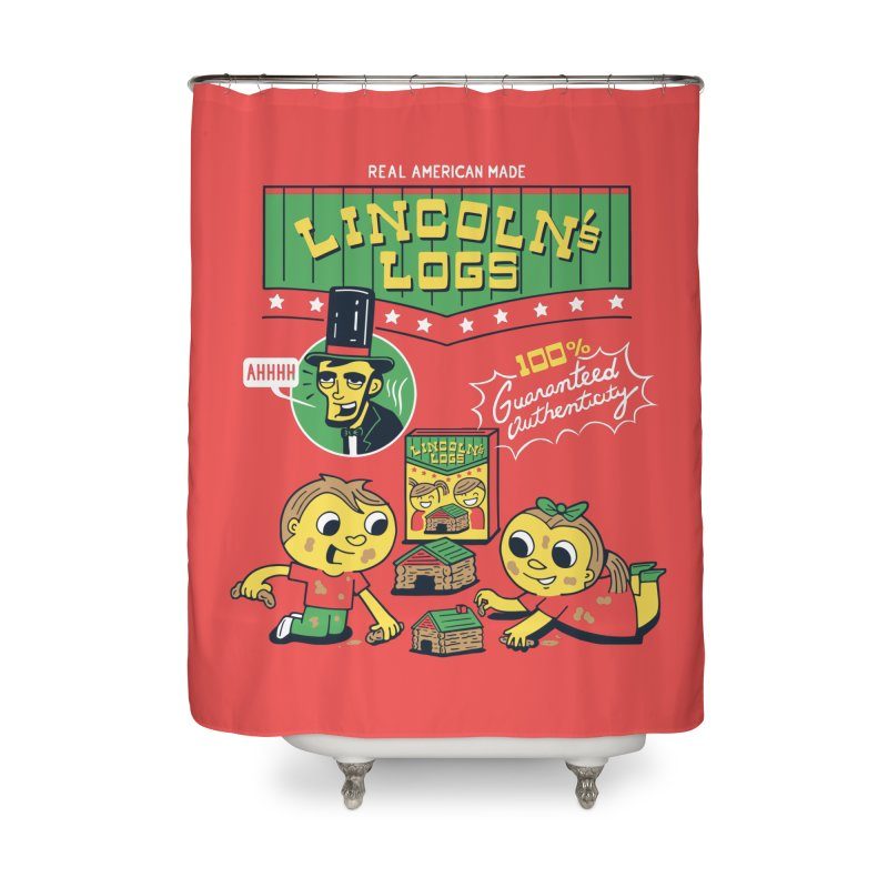 Lincoln's Logs Home Shower Curtain by Ibyes