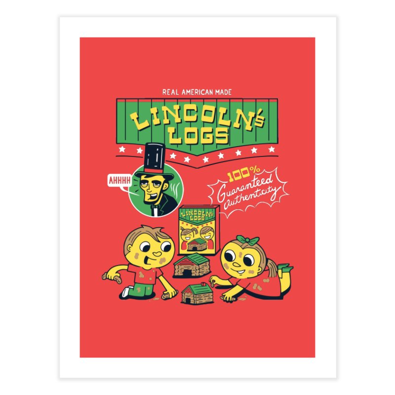 Lincoln's Logs Home Fine Art Print by Ibyes