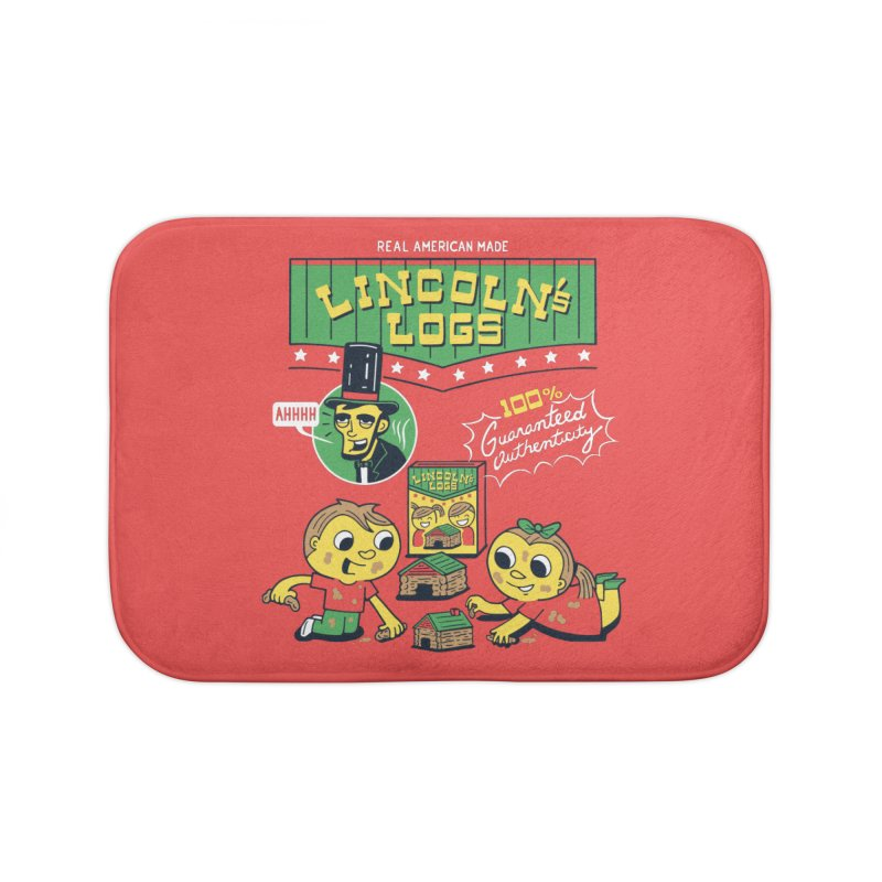 Lincoln's Logs Home Bath Mat by Ibyes