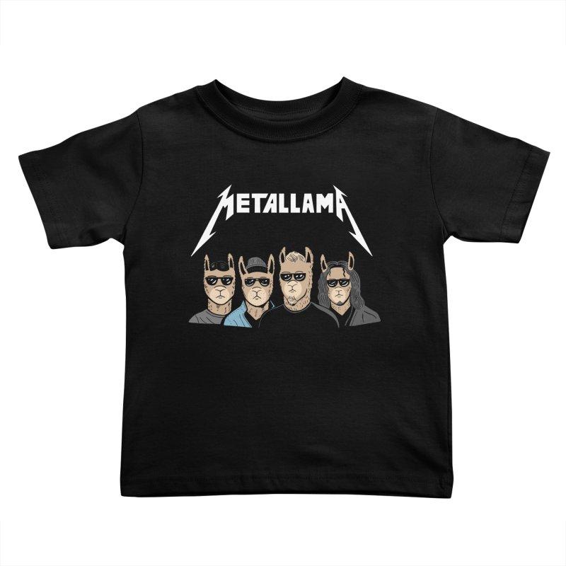 Metallama Kids Toddler T-Shirt by Ibyes