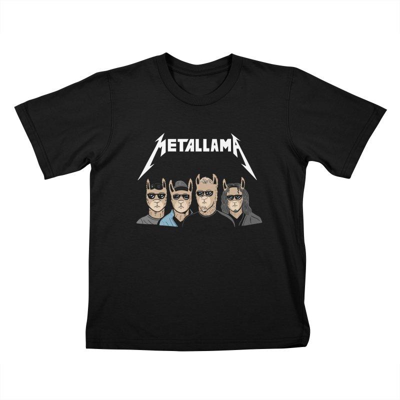 Metallama Kids T-Shirt by Ibyes