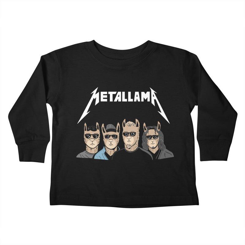 Metallama Kids Toddler Longsleeve T-Shirt by Ibyes