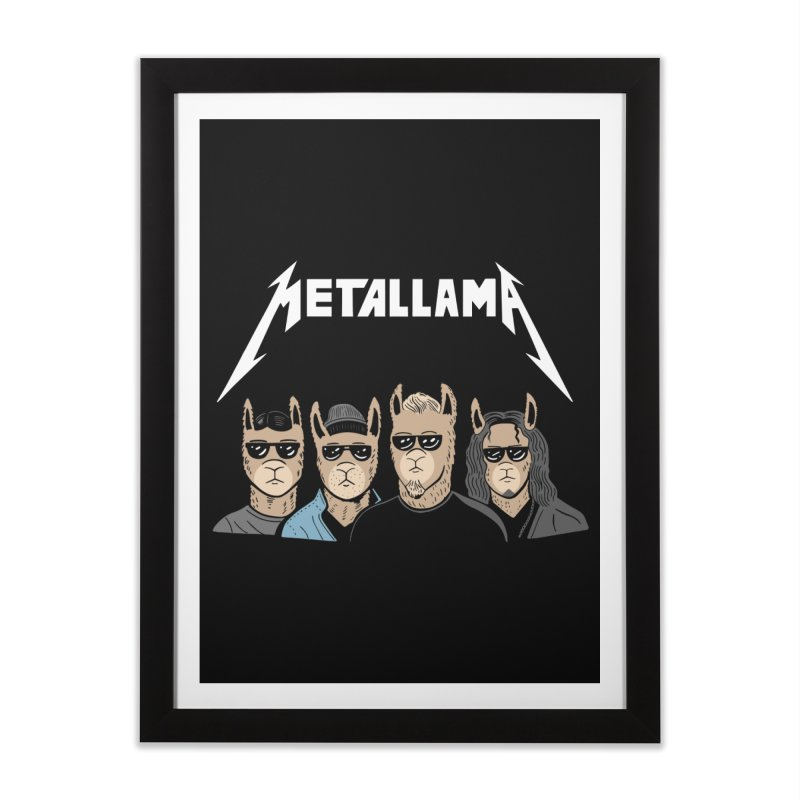 Metallama Home Framed Fine Art Print by Ibyes