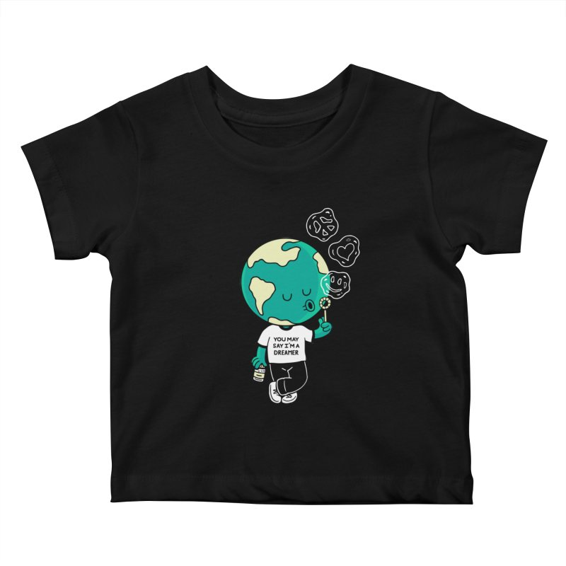 Dreamer Kids Baby T-Shirt by Ibyes