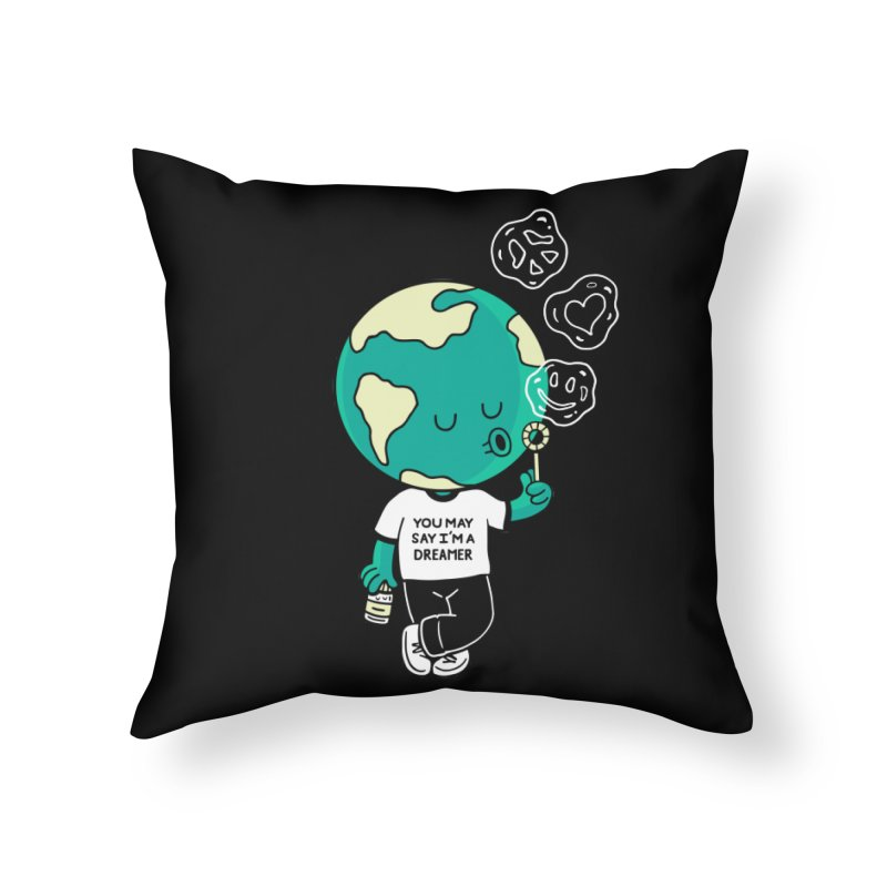 Dreamer Home Throw Pillow by Ibyes