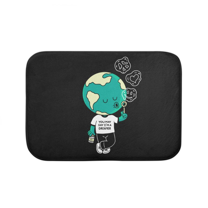 Dreamer Home Bath Mat by Ibyes