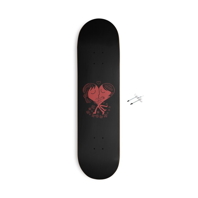 Half a Heart Accessories Skateboard by Ibyes
