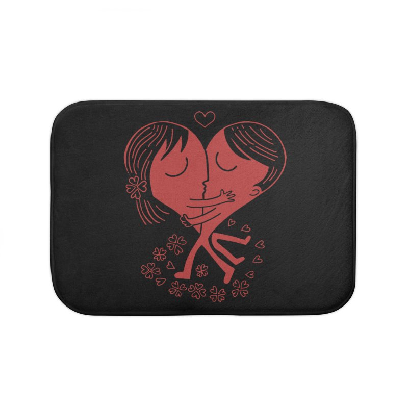 Half a Heart Home Bath Mat by Ibyes