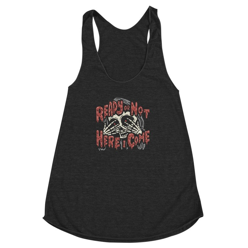 The Grim Seeker Women's Racerback Triblend Tank by Ibyes