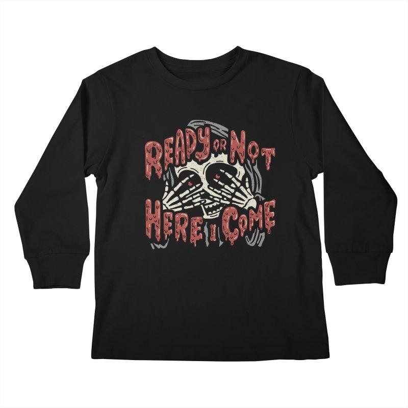 The Grim Seeker Kids Longsleeve T-Shirt by Ibyes