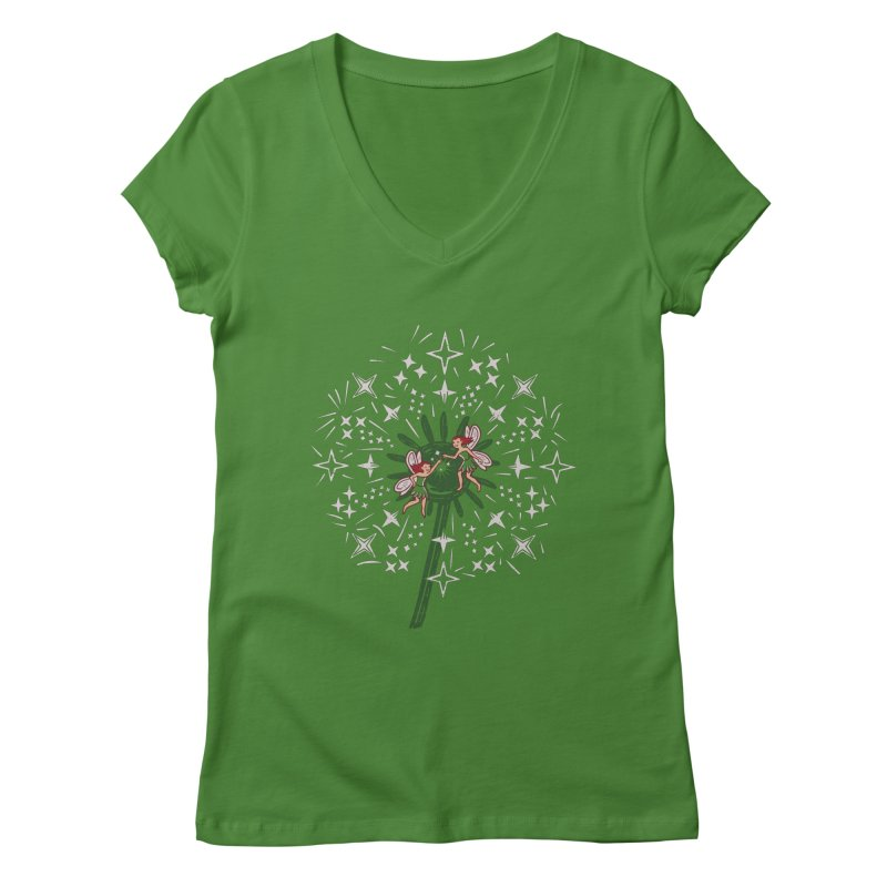 Fairy Fist Bump Women's V-Neck by Ibyes