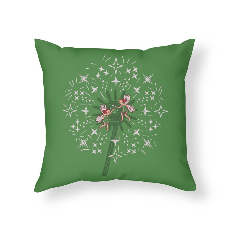 Fairy Fist Bump Home Throw Pillow by Ibyes
