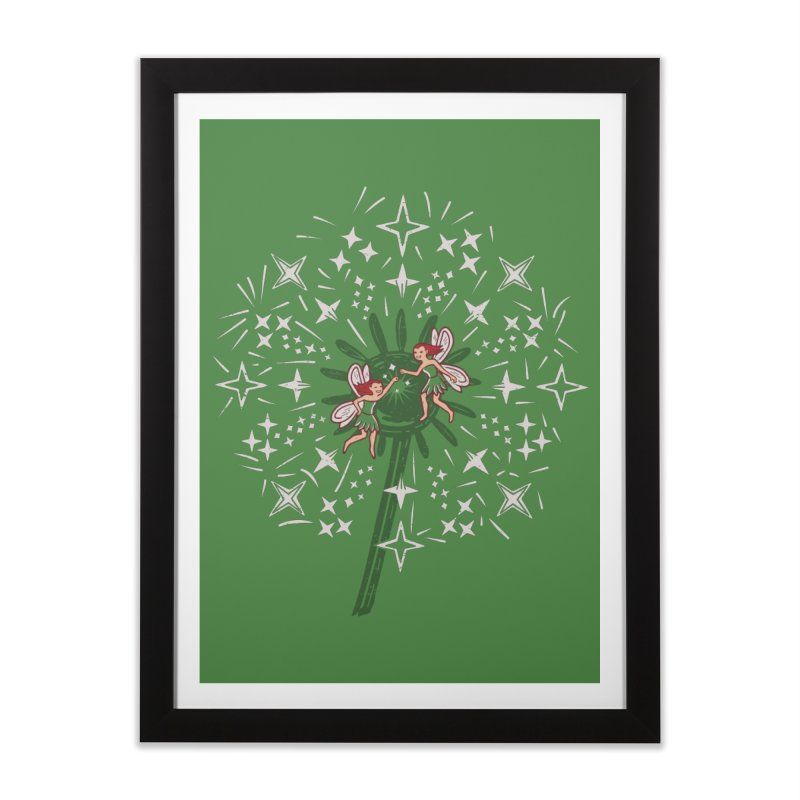 Fairy Fist Bump Home Framed Fine Art Print by Ibyes