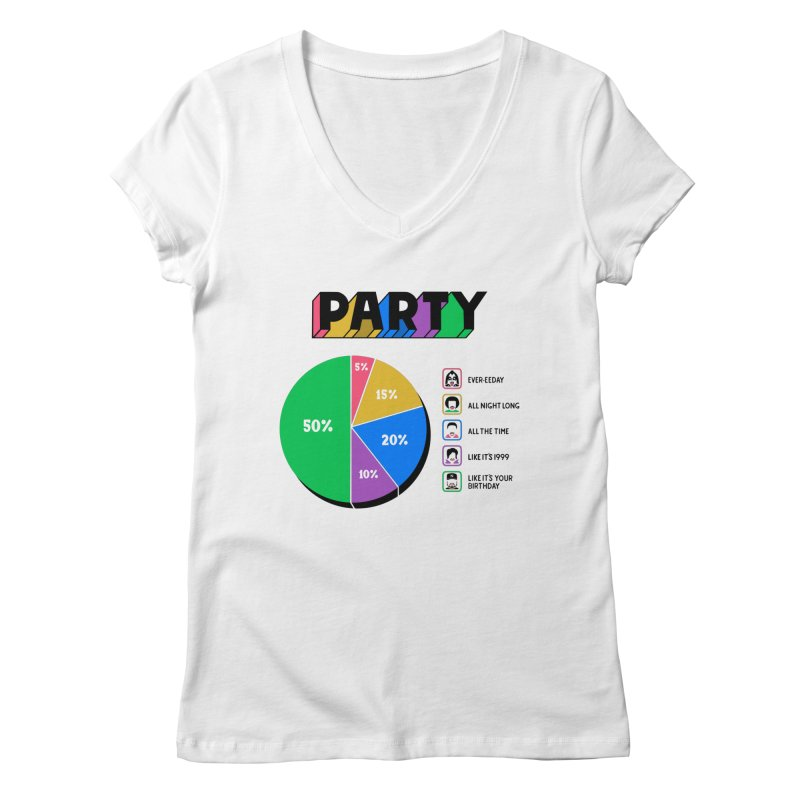 Party Charty Women's V-Neck by Ibyes
